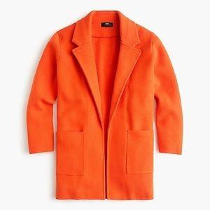 J.Crew sweater blazer in orange